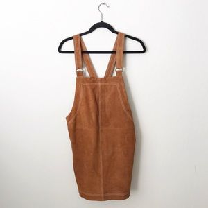 Free People Fall 4 U Suede Jumper Overall Dress